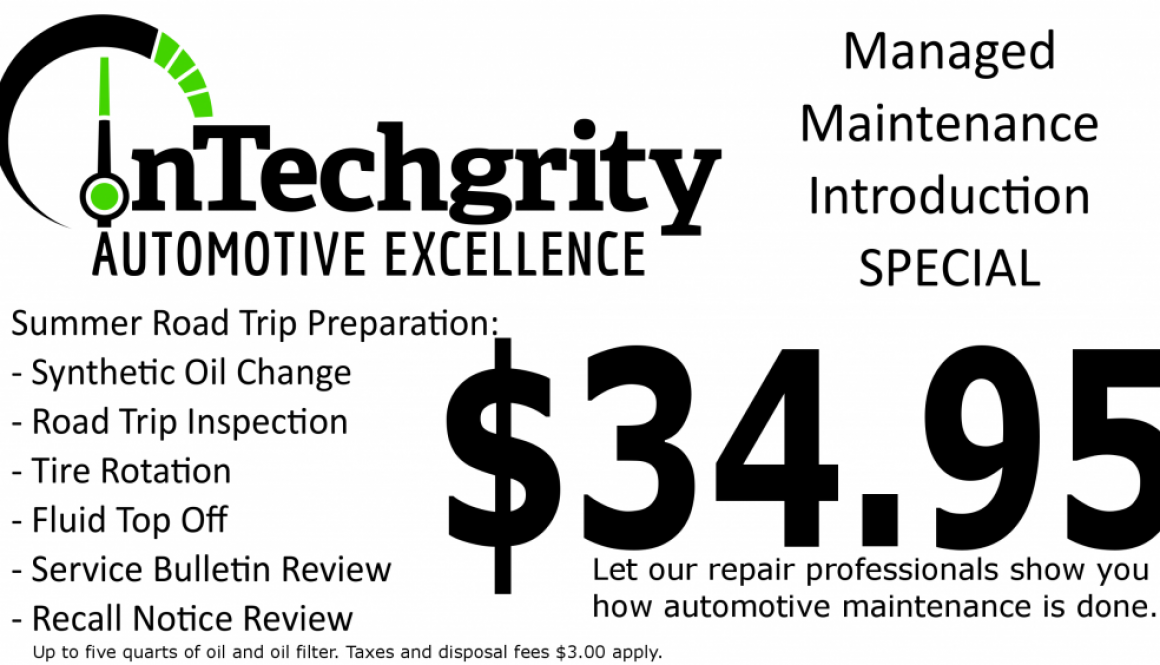 Managed Maintenance Introductory Special ($34.95)