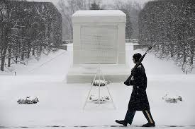 Guarding veterans in the snow