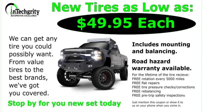 Tires $49.95