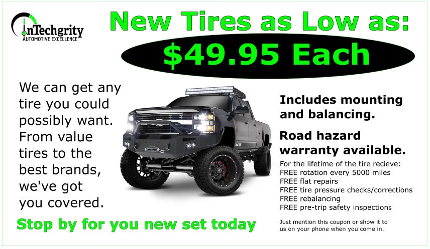 Tires $49.95