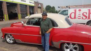 The owner of the '54 Classic Chevy Deluxe