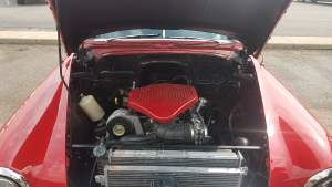 Engine of a beautiful '54 Chevy Deluxe