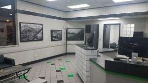 New lobby is ready for customers.