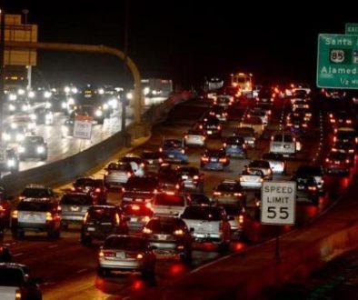 Brake lights: A familiar sight